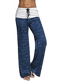 Women's Comfy High Waist Casual Loose Drawstring Wide Leg Lounge Pants