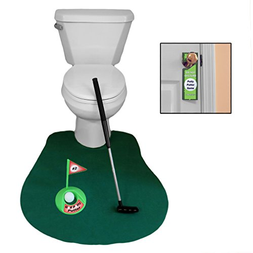 Evelots Potty Golf Game Novelty 6 Piece