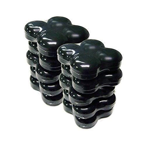 10セット52 mmブラックスケートボードホイール40ホイール