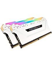 ذاكرة كمبيوتر محمول برو 32 جيجابايت (2 × 16 جيجابايت) DDR4 3200 (PC4-25600) C16 من كروسير - أبيض 32 Gb CMW32GX4M2C3200C16W