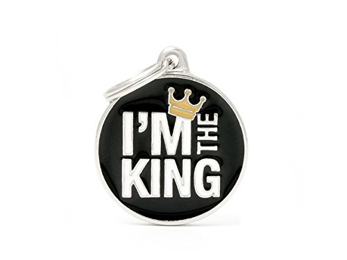 Médaille MyFamily I'm The King plaque chien gravure gratuite coutume chat