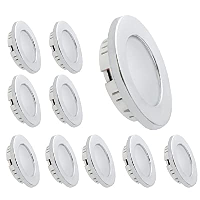 Dream Lighting LED Recessed Ceiling Light 3.5W Silver Pack of 10