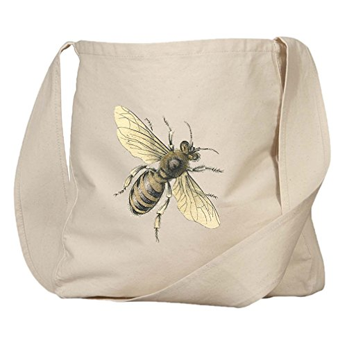 Market Bag Organic Cotton Canvas Honey Bee Vintage Look By Style In Print