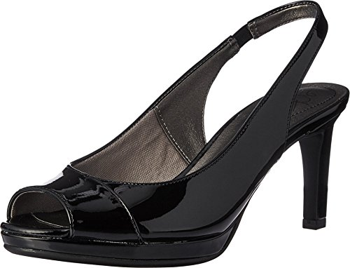 LifeStride Women's Invest Dress Sandal, Black, 8.5 M US