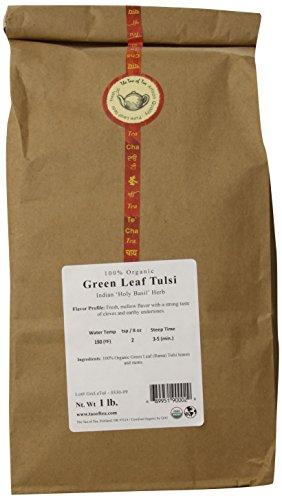 The Tao of Tea Green Leaf Tulsi, 100% Organic Tulsi, 1-Pounds