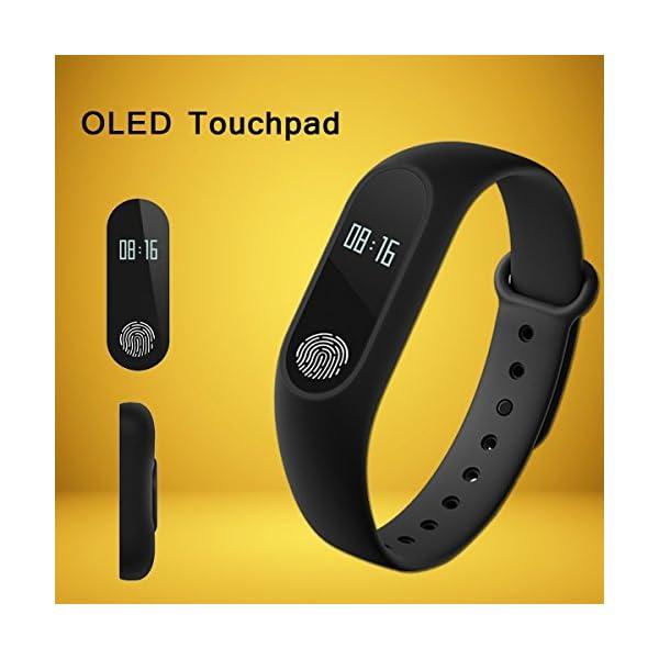 41Wea0iDoAL RunSale Sports Smart Fitness Band 2 Bracelet/Fitband with Heart Rate Monitor Sensor M2 OLED Bluetooth Wristband…