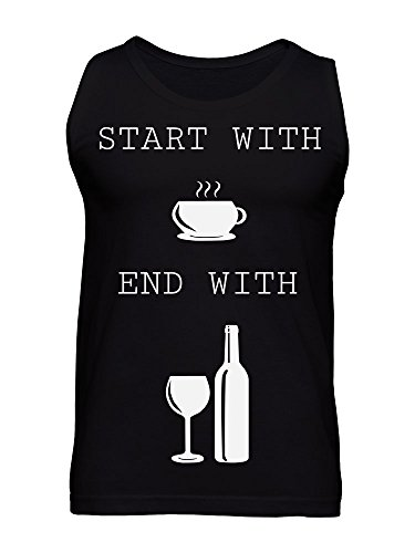 Start With Coffee End With Wine Men's Tank Top