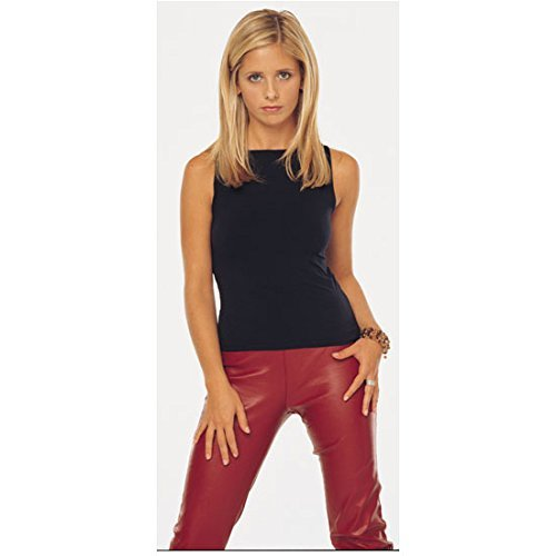 (Buffy the Vampire Slayer 8x10 Photo Sarah Michelle Gellar Red Leather Pants Black Top kn)