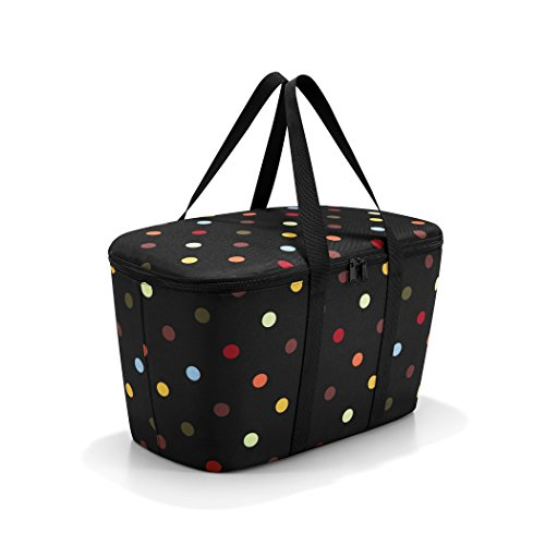 (reisenthel Coolerbag, Collapsible 20-Liter Insulated Tote with Zipper Closure, Dots)