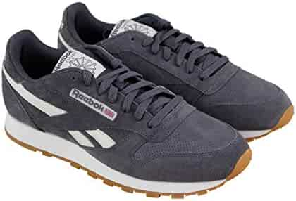 Reebok Classic Leather Mu Mens Gray Suede Athletic Lace Up Training Shoes da4bb61c7