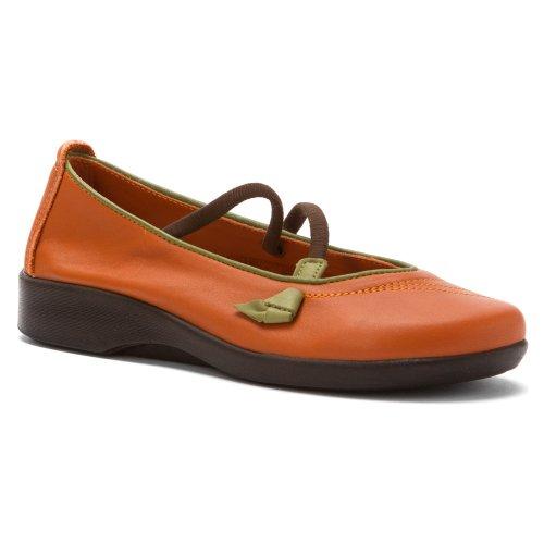 Arcopedico Vitoria Mary Jane Flats Slip On Shoe - Womens Orange