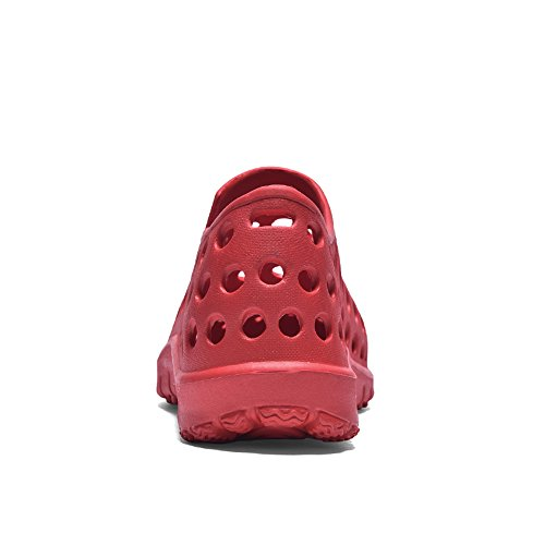 Easy Go Shopping Men's Clogs Sandals Flat Heel Slip On Hollow Vamp Outdoor Waterproof Couples Shoes,Flip Flop Sandals for Men Red