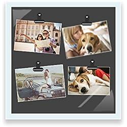 HUSOAR N1347 Pictrue Frame, 13x13 Frame Succinct Design for The Home (White)