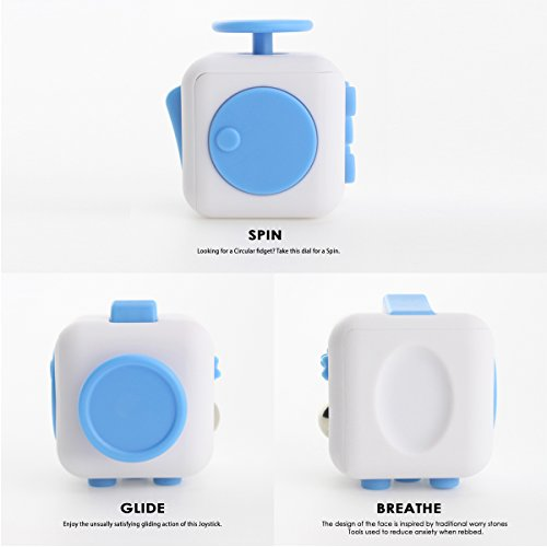 New Version 2017 - Anti Stress Cube Fidget Toys for Adults / Stress and Anxiety Relief Reducer Toys to Focus/ Attention Relieves Stress Toy for Gifts, ADHD, Kids, Children, Autism - 3