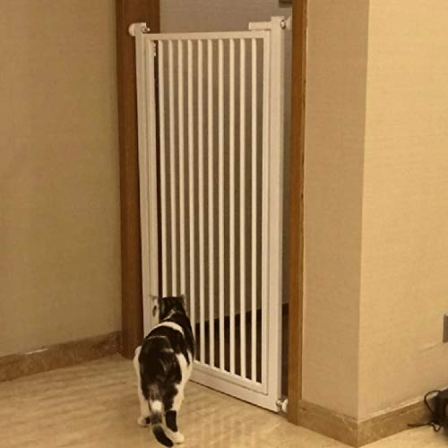 100cm Extra High Pet Cat Gate with Door, Pet Dog Guardrail, Home Indoor Anti-Jump Isolation Fence for Small Cat, Gap 4cm (Size : Width 71-76cm)