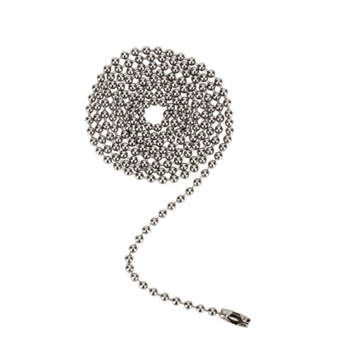 Aspen Creative 21304 3 Feet Beaded Pull Chain with Connector in Brushed Pewter, 1 Pack, Brushed Pewter Pull Chain
