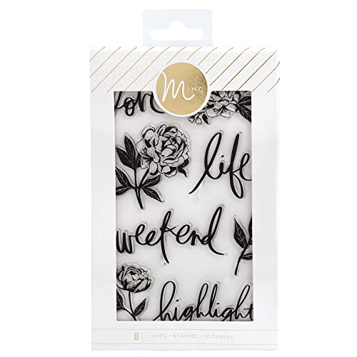 Heidi Swapp 314624 Floral Stamps Clear