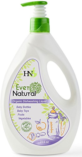 Organic Baby Dishwashing Cleaning Liquid - Fruit Vegetable Washing Liquid Safe for Kids Adults-Dishwashing Detergent Liquid for Baby Bottles Toys and for Fruits and Vegetables Baby (Kid Chamomile Extract Liquid)