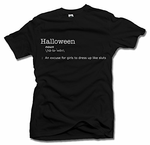 HALLOWEEN DEFINITION OF SLUTS T-SHIRT XL Black Men's Tee (Halloween Trick Or Treat Definition)