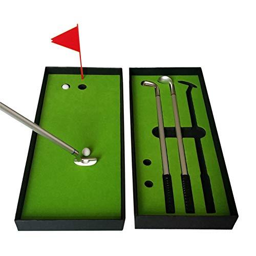 COSTOM Golf Pen Set, Mini Desktop Golf Putter Putting Game Office Creative Business Gifts Toy Golf Set Indoor Golf Training Accessory Golf Souvenirs Gifts for Golfer Fans Coworker Men Women Kids