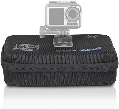 Wicked Chili M Schutztasche kompatibel mit DJI OSMO Action-Cam Koffer Case Bag Tragetasche für DJI Kamera, Unterwassergehäuse und Zubehör (Tragegriff + Fach mit Reißverschluss)