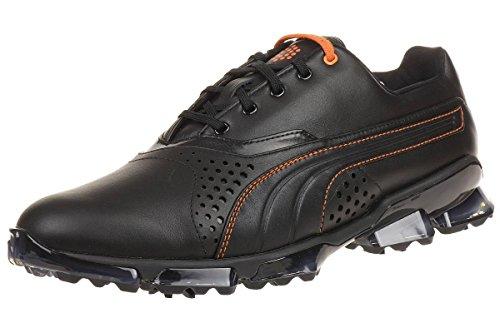 Puma Titantour King Men Chaussures De Golf Golf Cuir Noir 188055 02