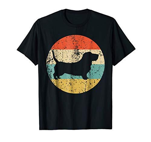 Basset Hound Shirt - Vintage Retro Basset Hound Dog T-Shirt