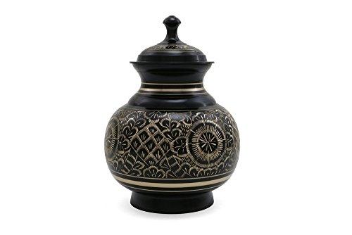 Near & Dear Pet Memorials 70 Cubic Inch Engraved Pet Cremation Urn, Large, Black from Near & Dear Pet Memorials
