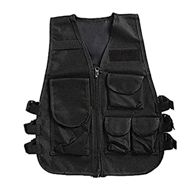 alisena Children Adult Survival Tactical Vest Adjustable Breathable Combat Training Camouflage Vest for Outdoor Hunting, Army Fans, CS War Game, Survival Game