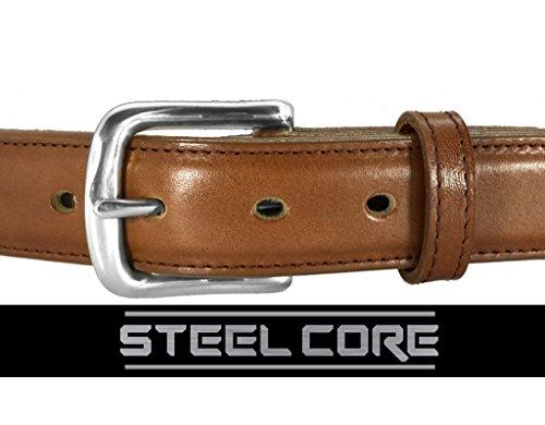 Daltech Force Dress Italian Leather Steel Core Gun Belt (Cognac, 38) ()