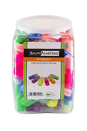 Baumgartens Mini Highlighters Hexagonal Tub Display of 90 Assorted Colors (79009) by Baumgartens (Image #3)