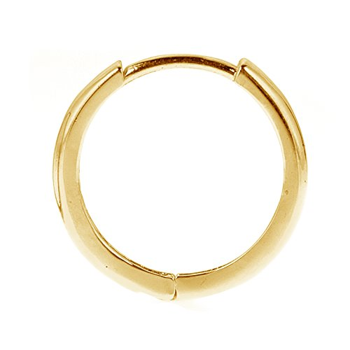 Men's Unisex 14K Yellow Gold Single Huggie Hoop Earring 10 Mm 14k Yellow Gold Single