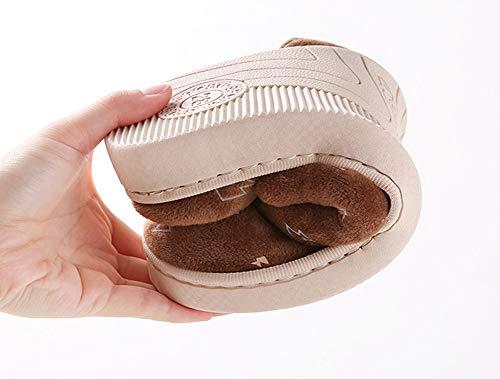 Femmes Snone pour Femmes et Chaussures en Hommes Slippers Slip Hiver Sandales Hommes Stay Automne Anti Intérieur Accueil extérieur Slippers Coton Warm Caffee Léger Warmth Yfn1YR