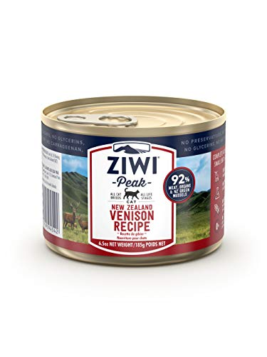 Ziwi Peak Canned Venison Recipe Cat Food (Case of 12, 6.5 oz. each)