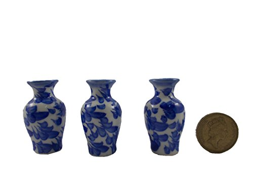 3pc Miniatures Antique Vase Vintage Furniture Chinese Dollhouse Jar Pot Lot Doll