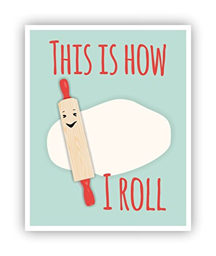 This is How I Roll, Food Pun, Funny Poster, Poster