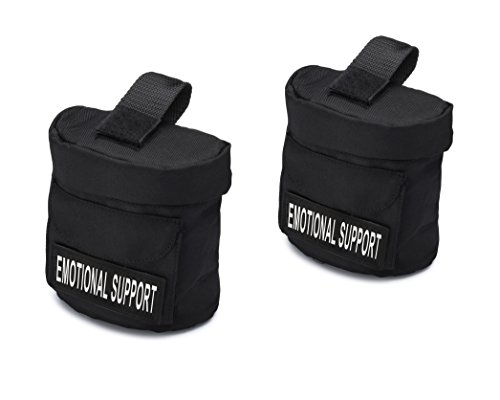 """Industrial Puppy Service Dog Harness Saddle Bags with """"Emotional Support"""" Hook and Loop Patches"""