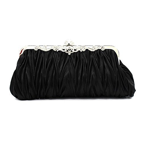 Evening Gorgeous Handbags black in Colors More Clutches Kingluck Silk Silk Availabl Cocktail EqWw6Y
