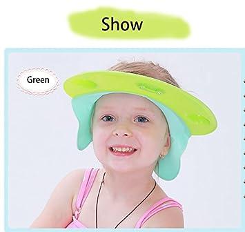SunnyJenny Visière Casquette Bonnet de Bain Douche Shampoing pour Bébés  Enfants-Capuchon en silicone df12eae88cb
