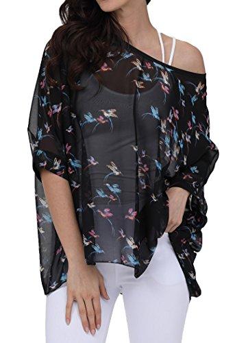 Womens Dolman Blouse Off Shoulder Floral Tops (Shoulder Dolman Top)