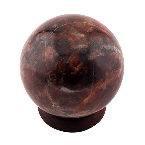 SHIVANSH CREATIONS Healing Crystals Aura Balancing Crystal Healing Stone Ball - Hand Carved Garnet Sphere Gemstone 40-45 MM ()