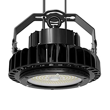 Image of Adiding LED High Bay Light, UFO High Bay LIFUD Driver Dimmable 5000K, Samsung SMD 3030 LED for Garage Workshop Warehouse,ETL DLC Listed,IP65 (150w-19,500lm-dimmable-black)