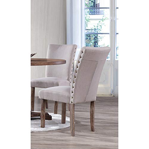 Best Master Furniture Carey Dining Chairs, Set of 2 Oak ()