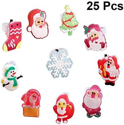 TOYMYTOY 光る指輪 光るおもちゃ ledライト 光るリング 25個セット クリスマス ランダムスタイル
