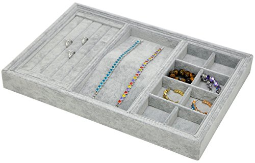 ORIGIA Drawer Organizer 4 in One Stackable Jewelry Accessary Tray Display Storage