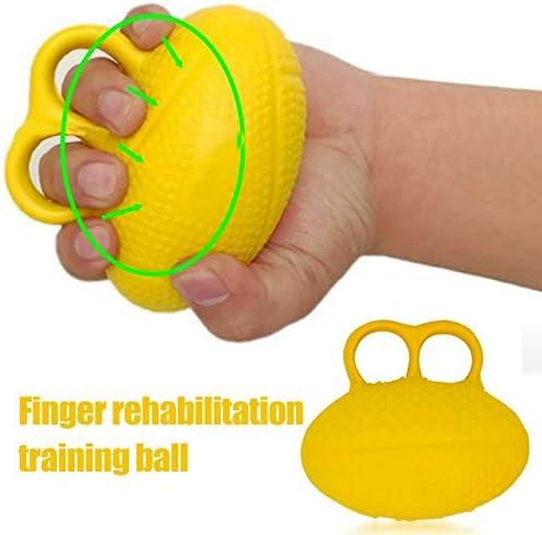 para aliviar el estr/és y fortalecer los dedos Tama/ño libre amarillo con forma de huevo Pelotas de estr/és para apretar las manos para la mu/ñeca y la artritis para ejercitar la rehabilitaci/ón