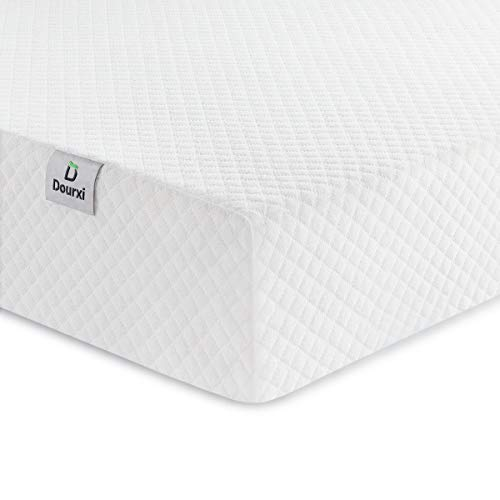 Dourxi Crib Mattress and Toddler Bed Mattress, Dual Sided Sleep System, Firm Side for Infants and Plush Soft Side for Toddlers, Breathable Foam Baby Mattress with Removable Cover (Best Memory Foam Mattress 2019)