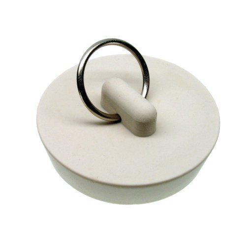 DANCO Drain-Protecing, Stain-Proof, Carded Rubber Drain Stopper, White, 1-3/4-Inch, 1-Pack ()