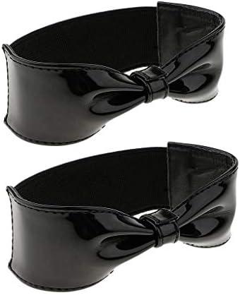 ファッションレディティーンガールズシャイニーレザー弾性取り外し可能ちょう結びシューズストラップハイヒール靴ウェッジフラット