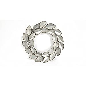 Everydecor Leaf Wreath Metal Wall Decor 10